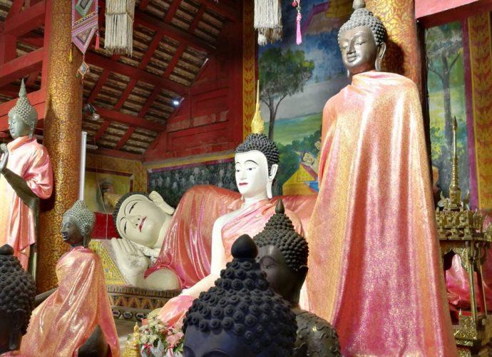 วัดลัฏฐิวัน พระนอนขอนตาล  Wat Latthiwan